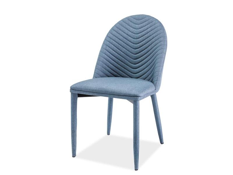 Scaun tapitat cu stofa si picioare metalice Lexie Albastru, l46xA43xH85 cm imagine