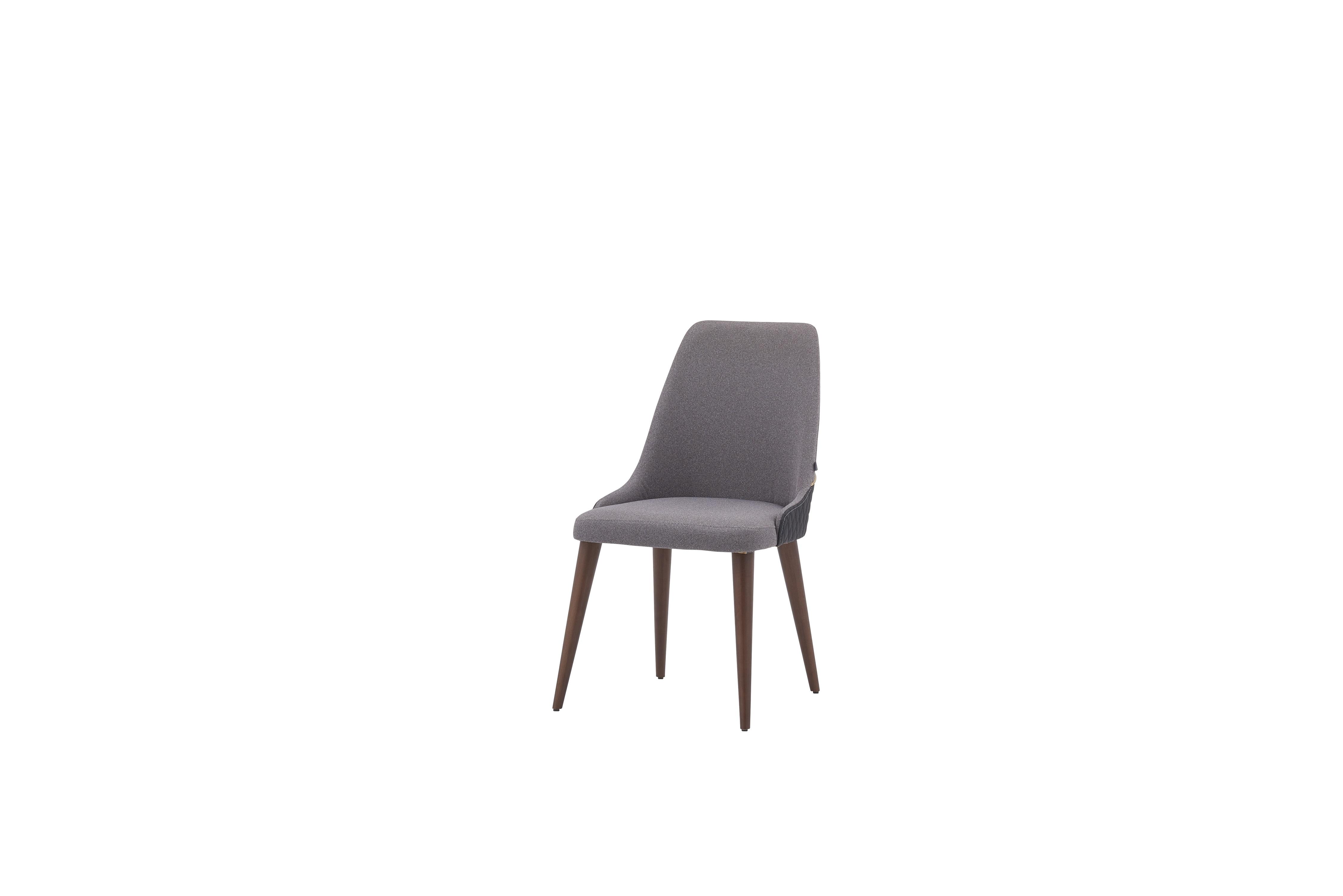Scaun tapitat cu stofa si picioare din lemn Diamond Gri, l51xA50xH93,5 cm