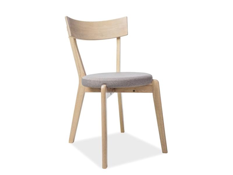 Scaun tapitat cu stofa si picioare din lemn Nelson Gri, l44xA40xH78 cm