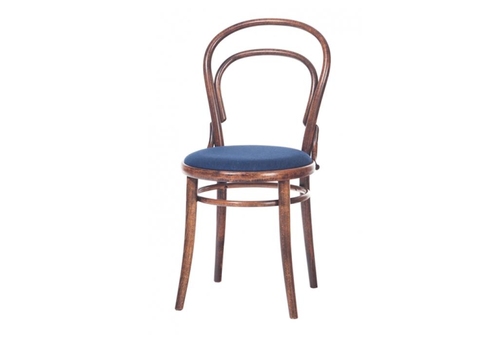 Scaun din lemn de fag, tapitat cu stofa 14 Simple Coffee, l41xA51,5xH84 cm