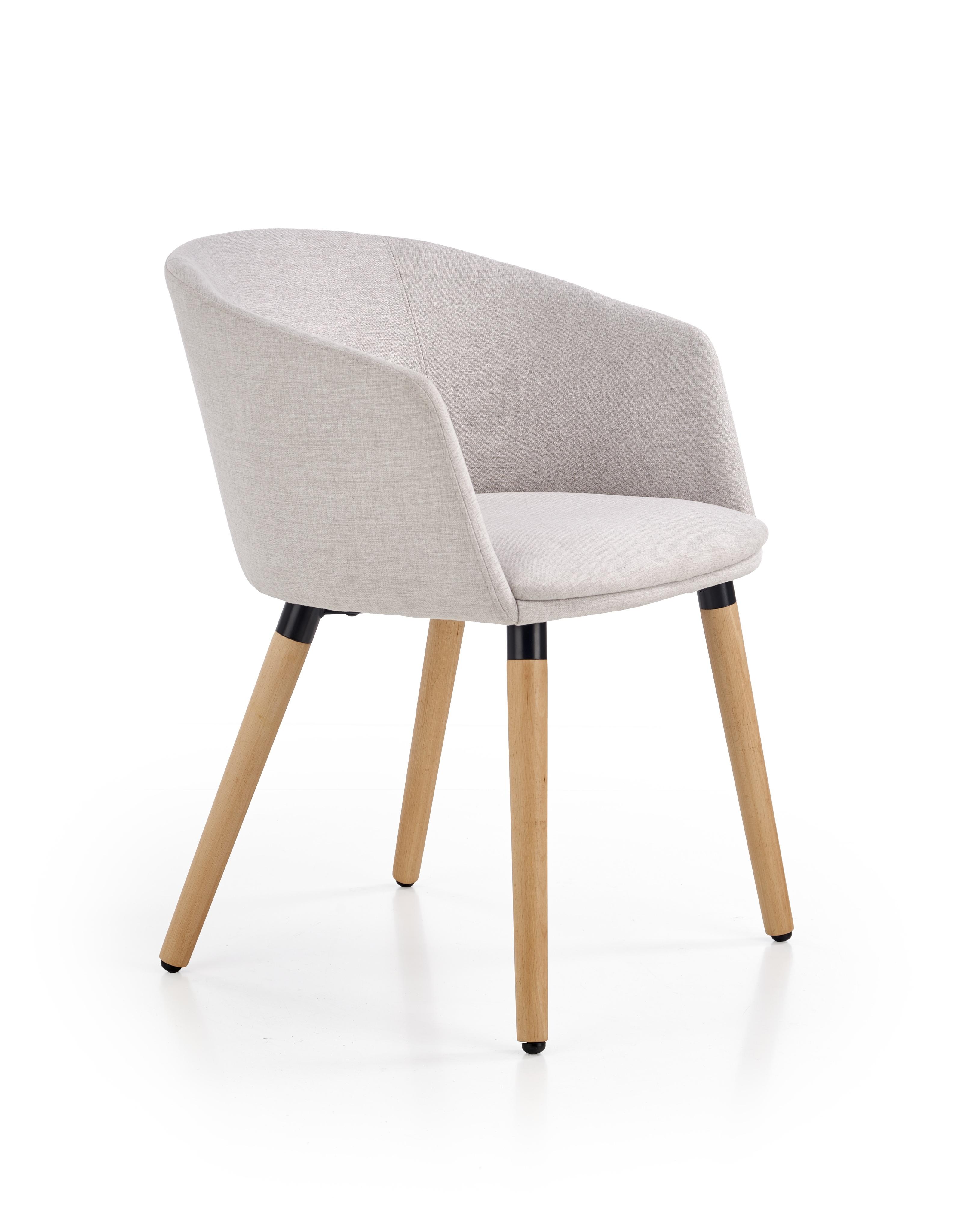 Scaun tapitat din lemn K266 Light Grey