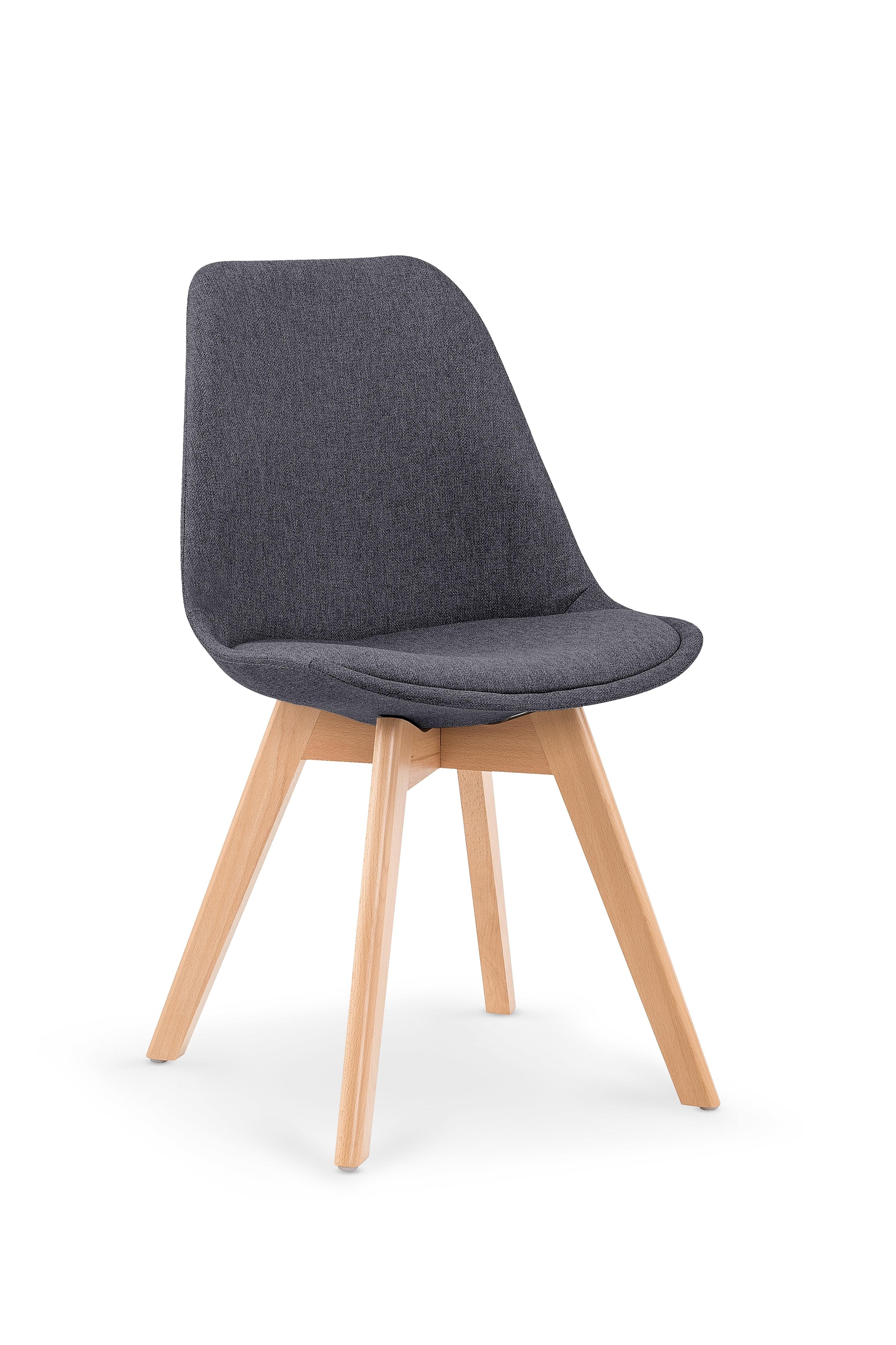Scaun tapitat din lemn K303 Dark Grey
