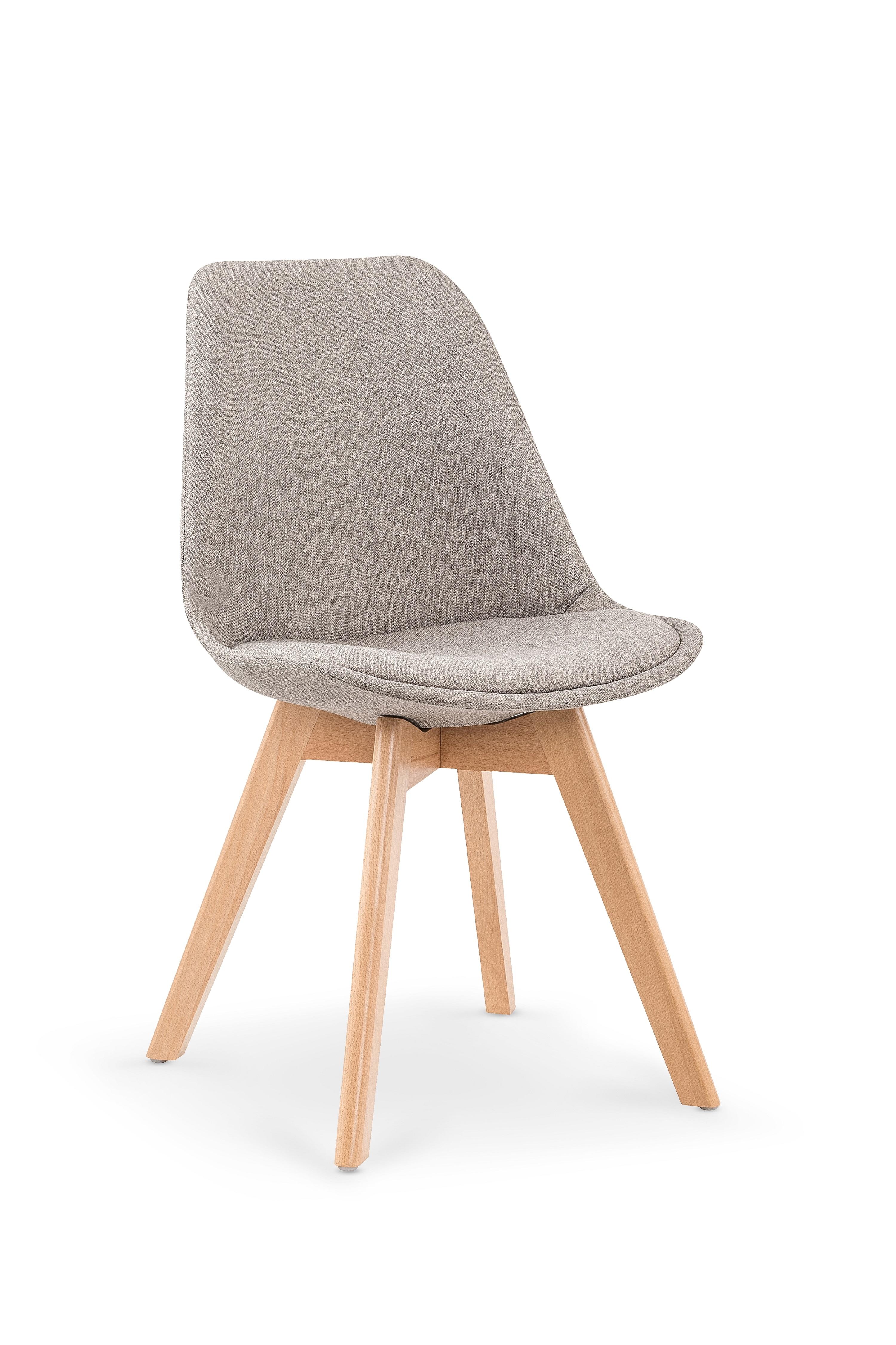 Scaun tapitat cu stofa, cu picioare din lemn K303 Light Grey, l48xA54xH83 cm imagine