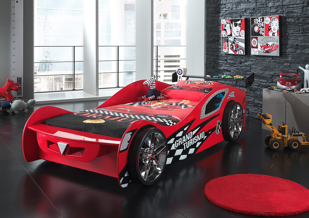 Pat pentru copii Grand Turismo Red