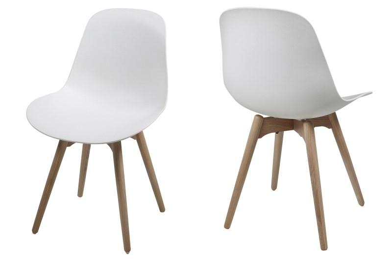 Set 2 scaune din lemn si plastic Scramble White