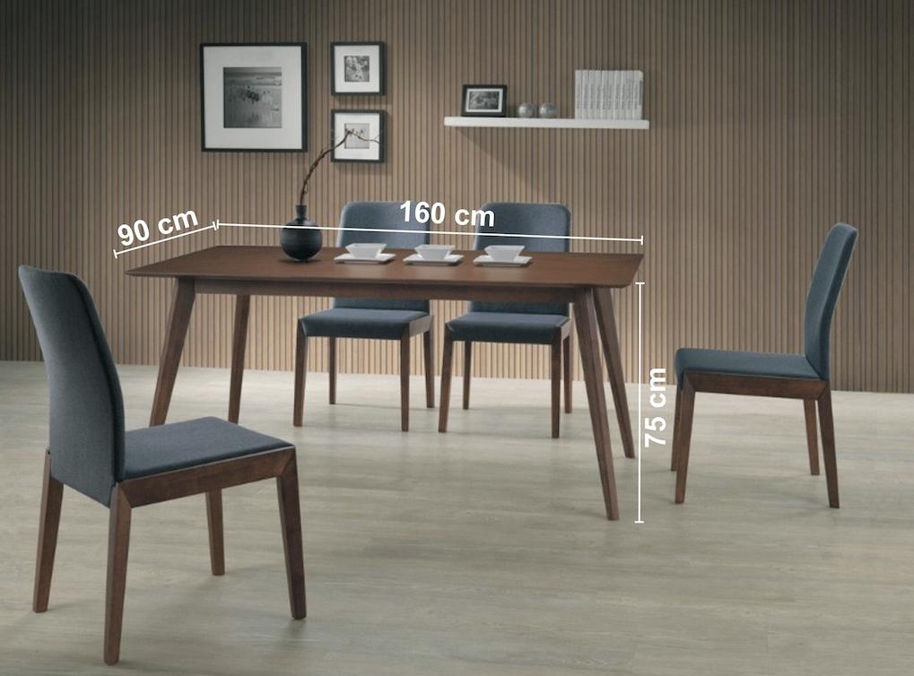 Masa din lemn masiv, MDF si furnir Brando nuc, L160xl90xh75 cm ( S )