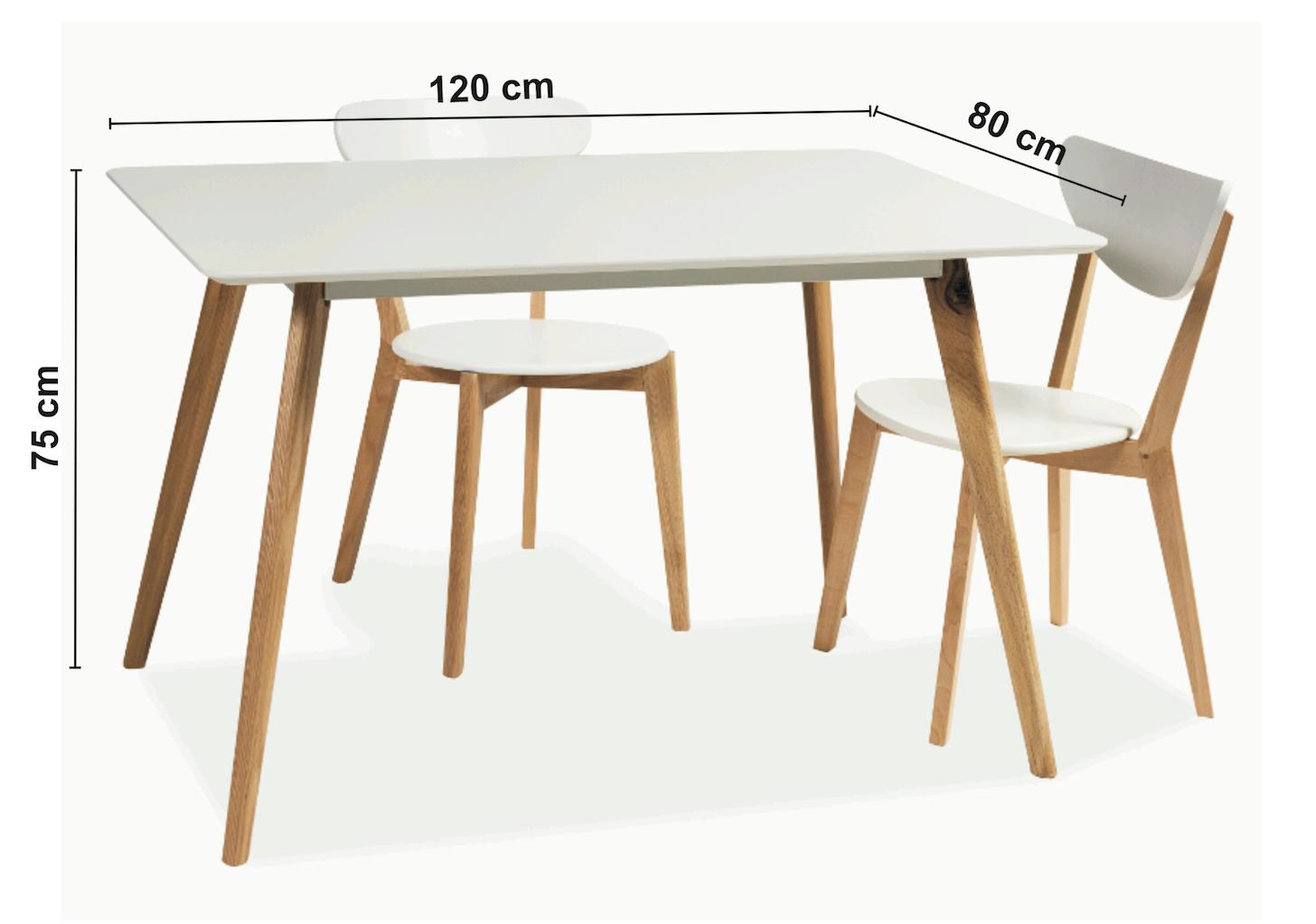 Masa din lemn Milan, L120xl80xh75 cm