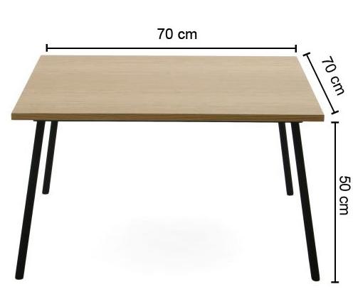 Masa Coupé, L70xl70xh50 cm