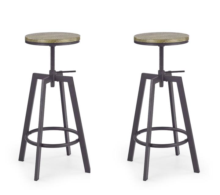 poze cu Set 2 scaune de bar H-64 Coffee