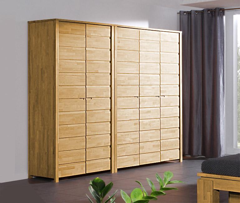 Dulap din lemn masiv de stejar Vinci 600 2D