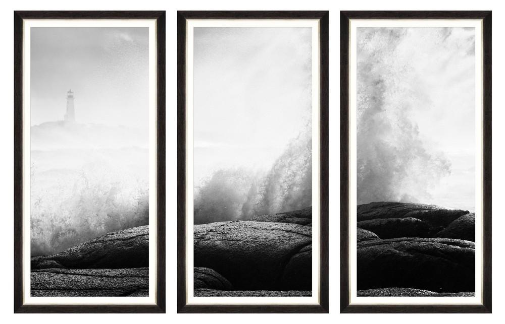 Tablou 3 piese Framed Art Seashore Splash