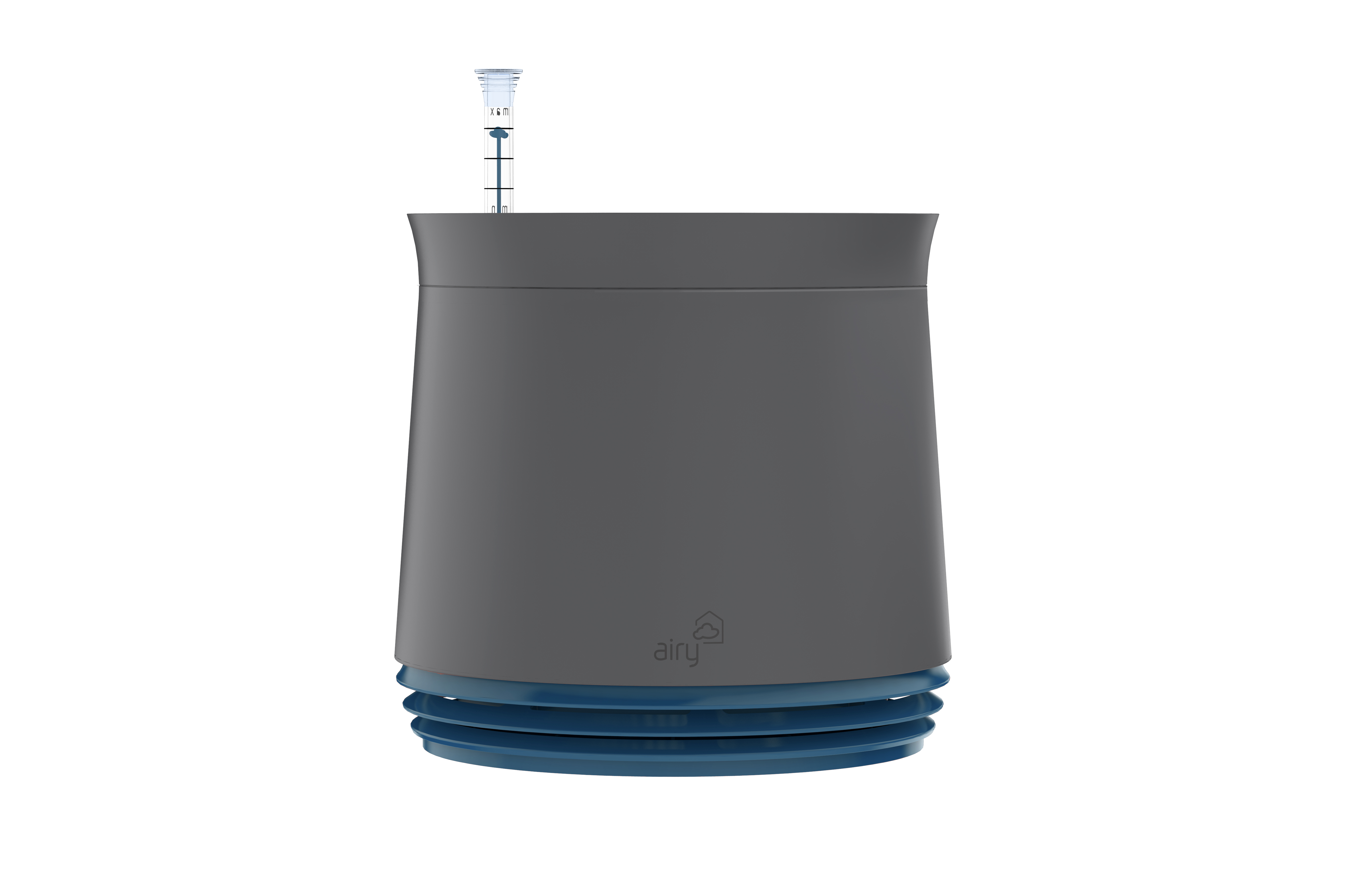 Purificator natural de aer cu ghiveci pentru plante Airy Grey / Space Blue