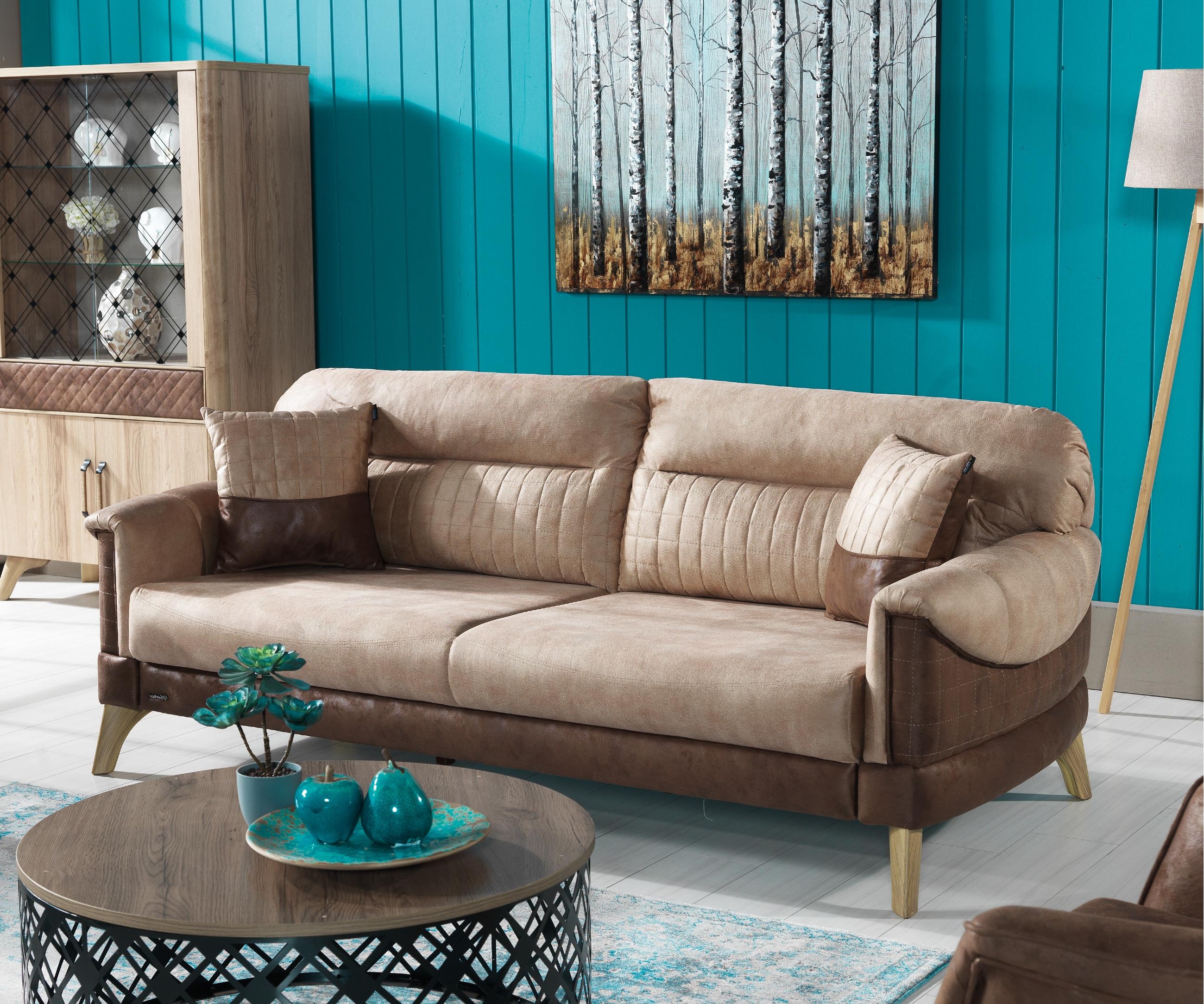 Canapea fixa 3 locuri Sella Brown K1
