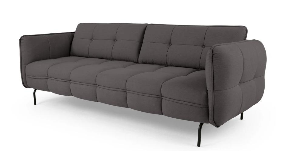 Canapea fixa tapitata cu stofa Serno Dark Grey