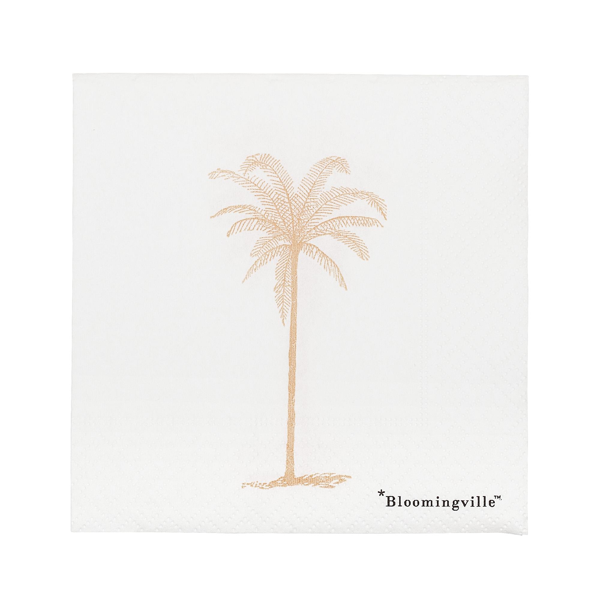 Servetele de hartie Napkin Palm Alb, 25 x 25 cm, 20 bucati somproduct.ro