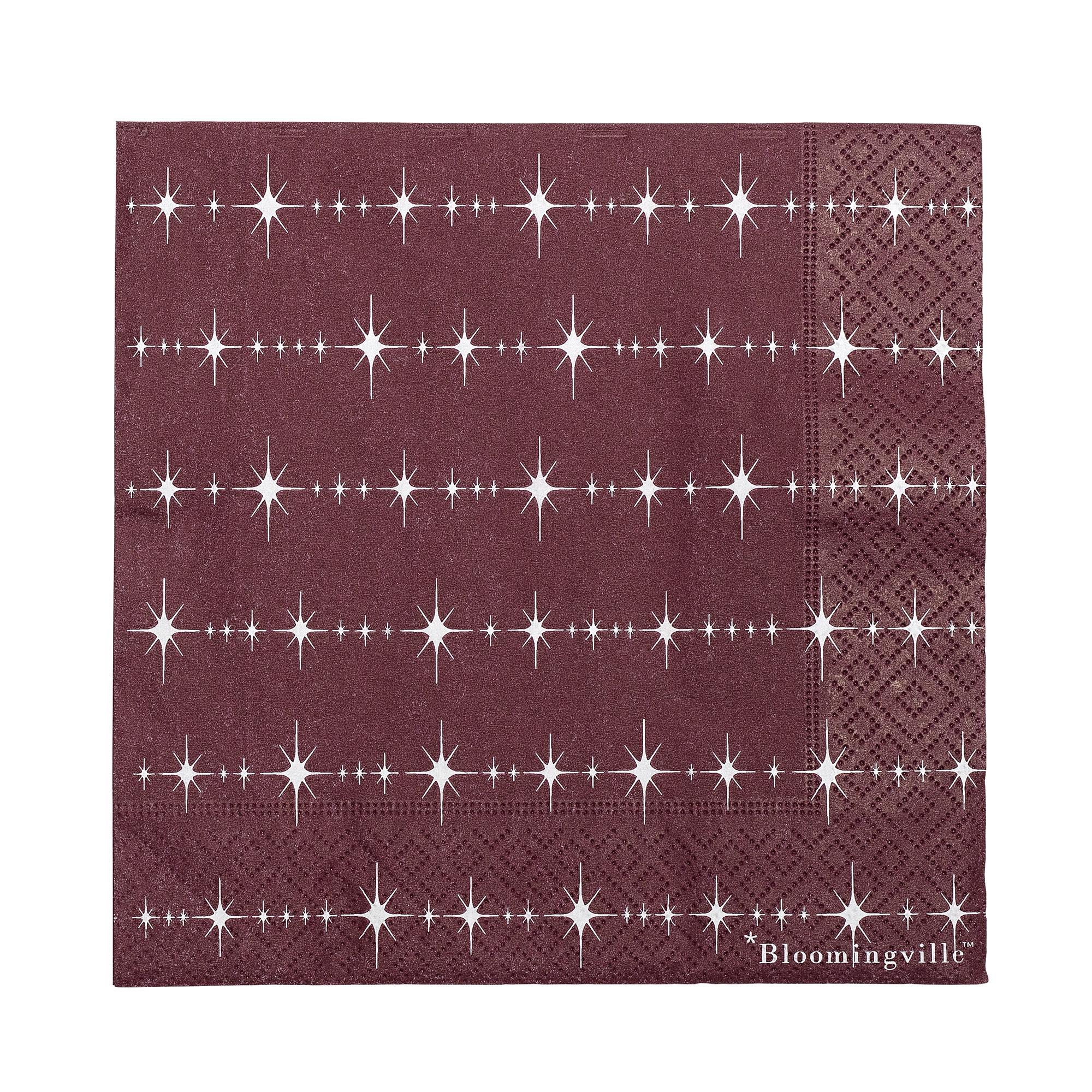 Servetele de hartie Napkin Red, 33 x 33 cm imagine