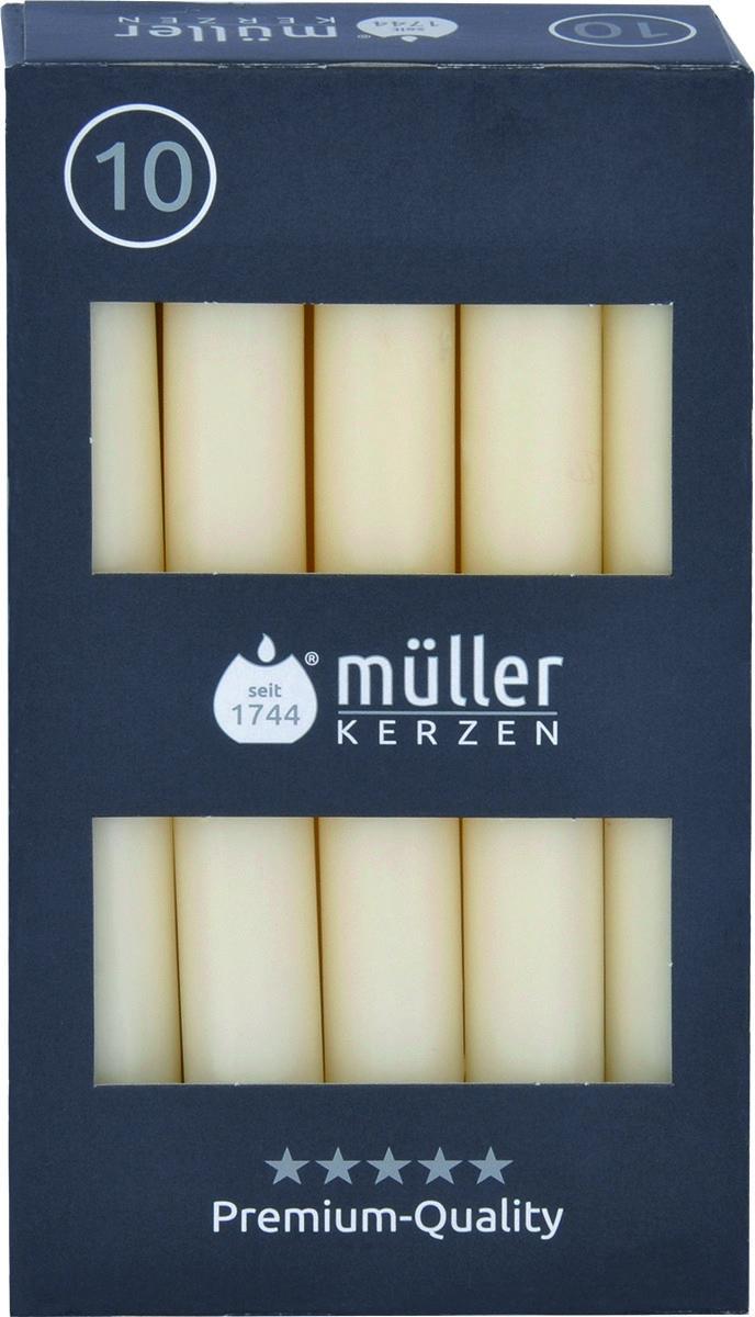 Set 10 Lumanari cilindrice Premium Crem, Ø2,2xH17,5 cm imagine