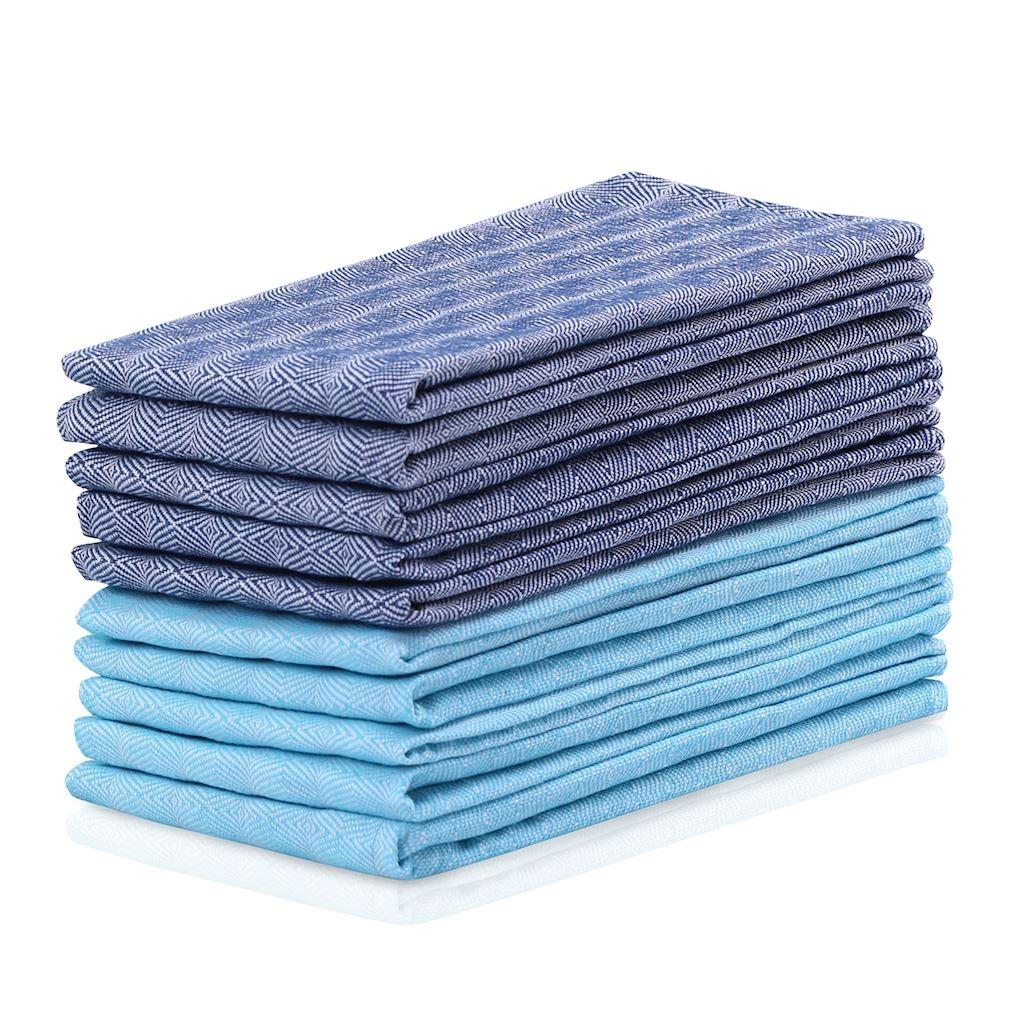 Set 10 prosoape de bucatarie Louie II Albastru, 50 x 70 cm imagine