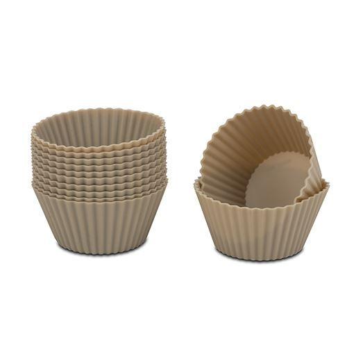 Set 12 fome din silicon pentru briose Misty Gri, 6,5xH3,5 cm imagine