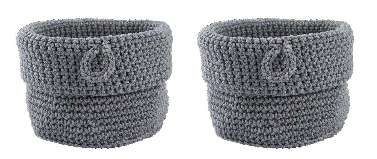 Imagine indisponibila pentru Set 2 cosuri tricotate pentru depozitare Roll Ø 11 cm, Zone