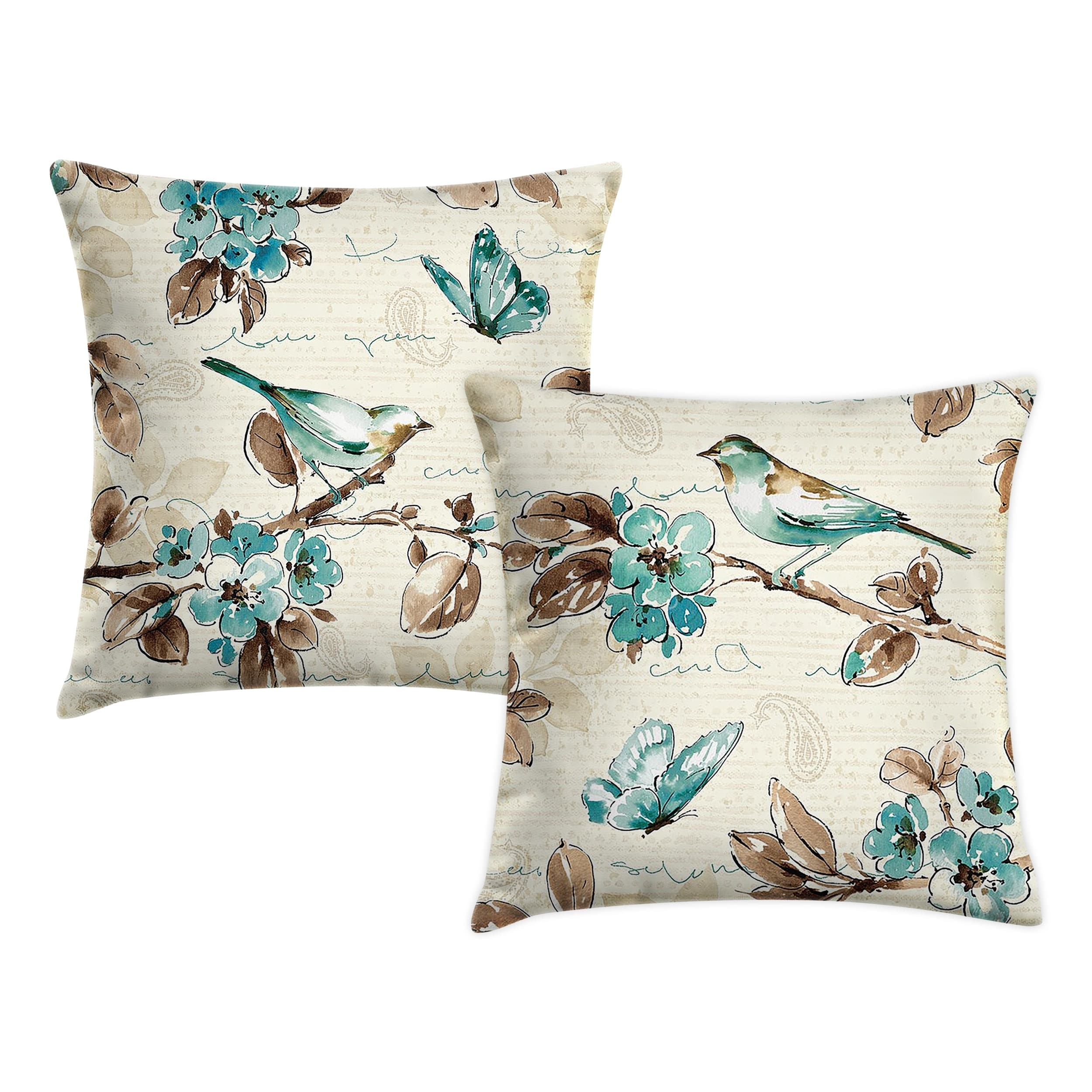 Set 2 fete de perna Birds 2Set27 Multicolor, 42 x 42 cm