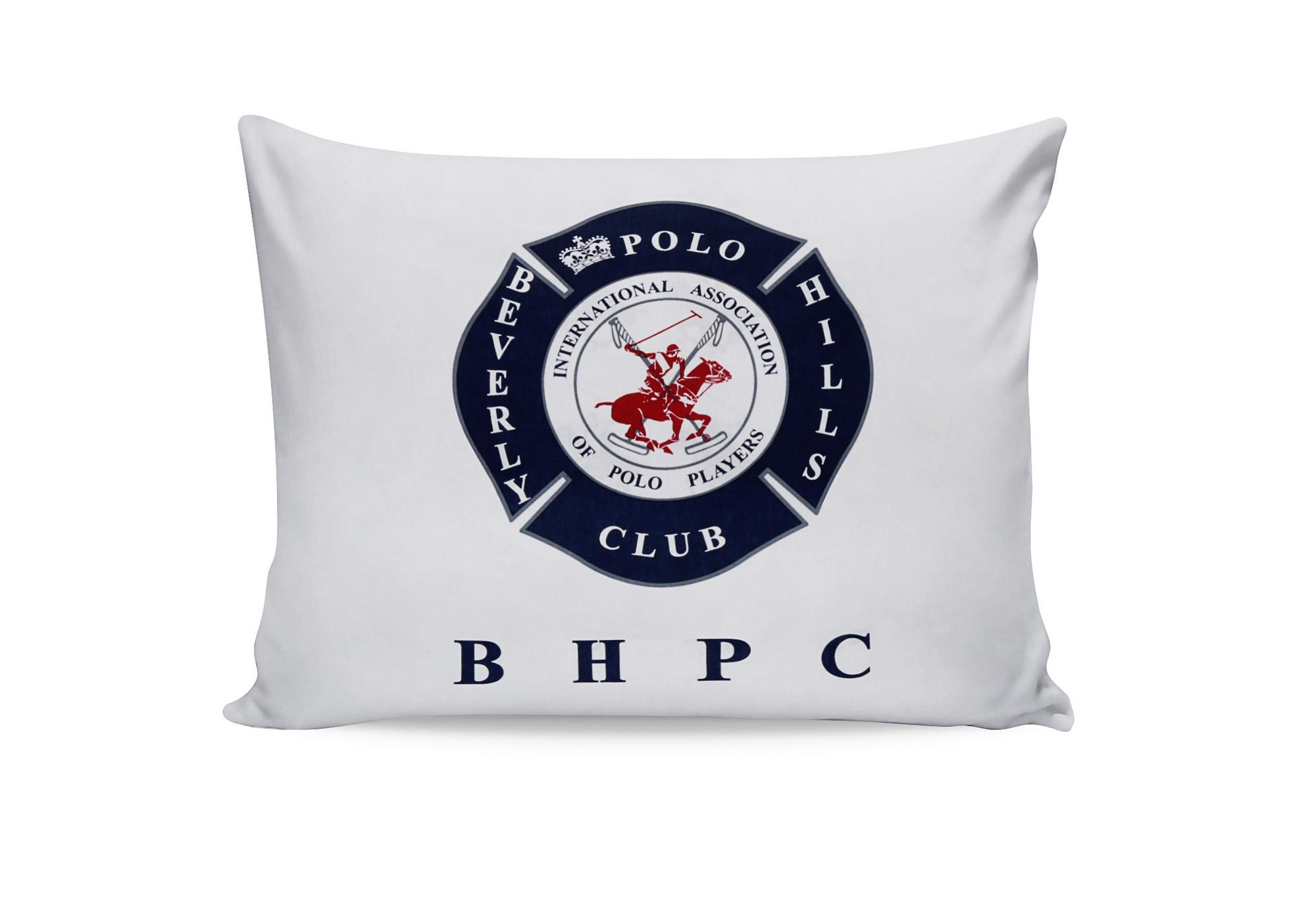 Set 2 fete perna din bumbac, Beverly Hills Polo Club BHPC 010 Alb / Bleumarin, 50 x 70 cm
