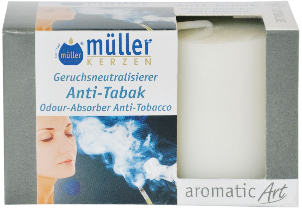 Set 2 Lumanari parfumate Votive Antitabac Alb, Ø3,8xH4,2 cm imagine