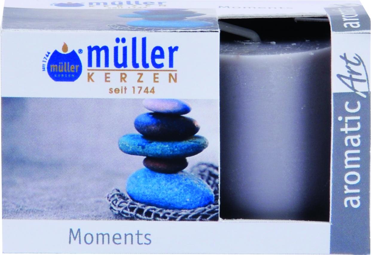 Set 2 Lumanari parfumate Votive Moment Gri, Ø3,8xH4,2 cm poza