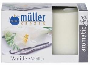 Set 2 Lumanari parfumate Votive Vanilie, Ø3,8xH4,2 cm imagine