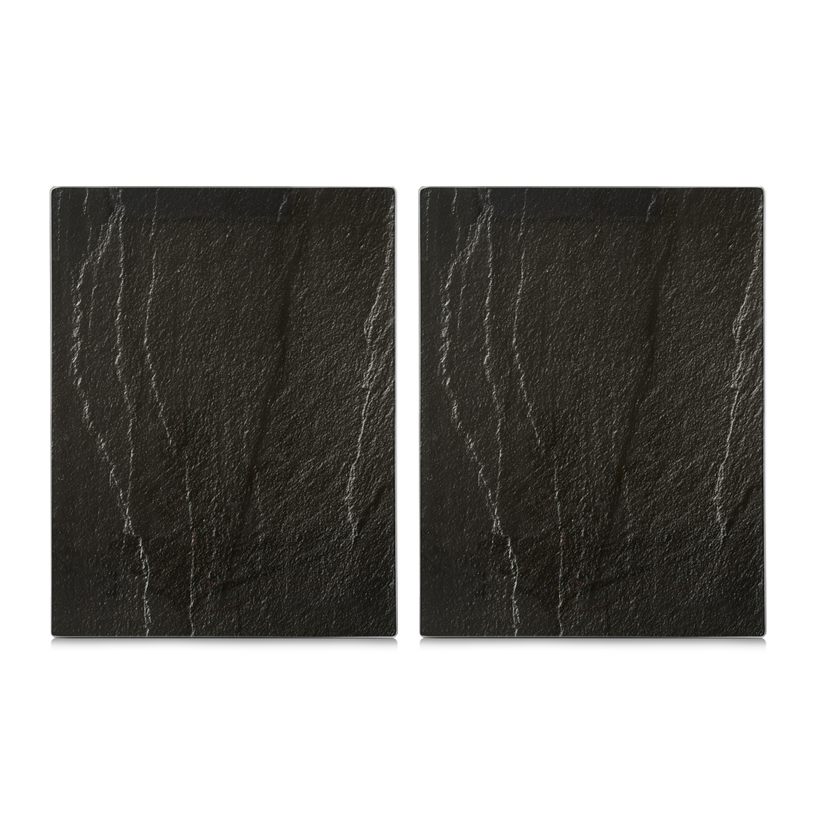 Set 2 placi din sticla, protectie plita, Anthracite Slate XL, l40xA52 cm
