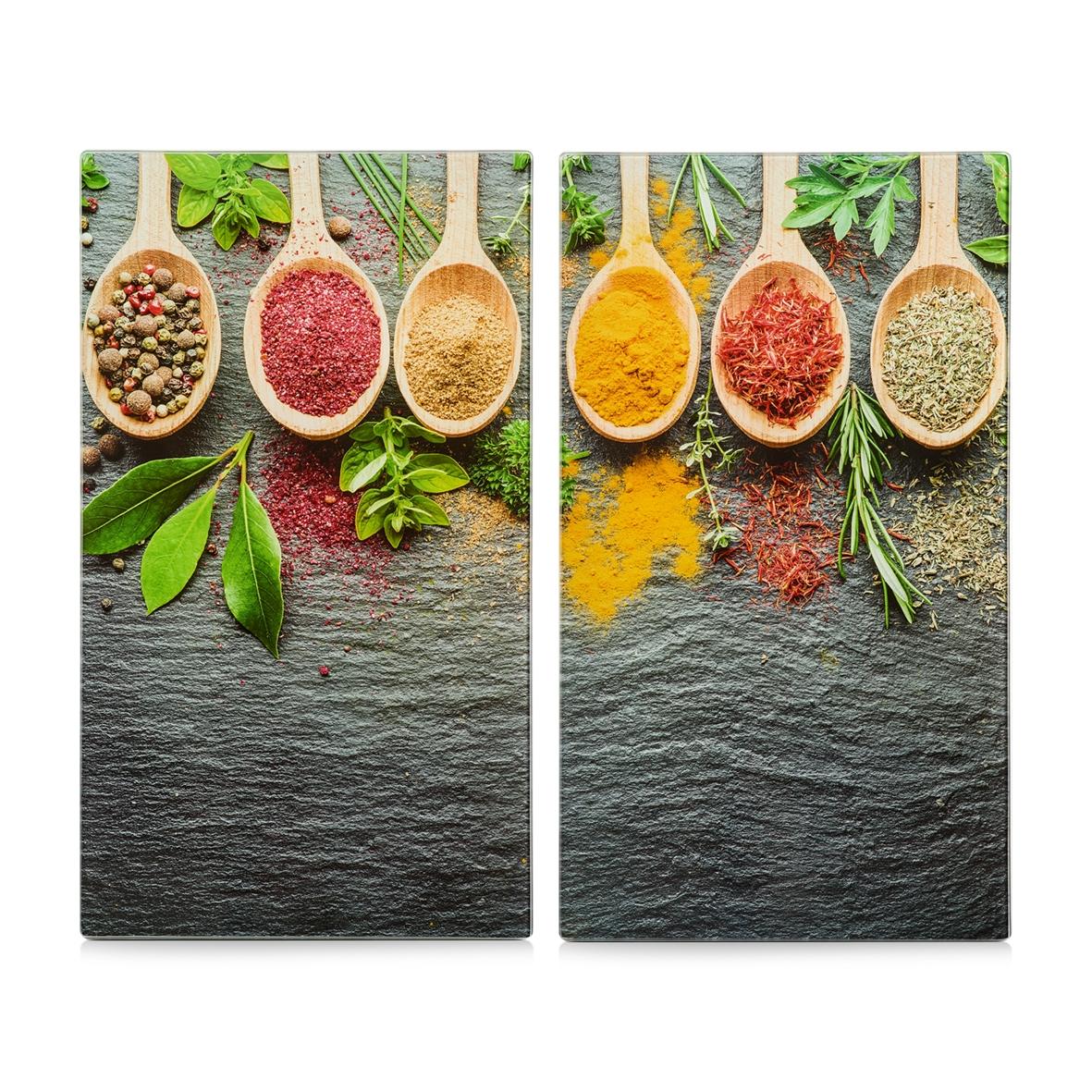 Set 2 placi din sticla, protectie plita, Spices, L30xl52 cm imagine