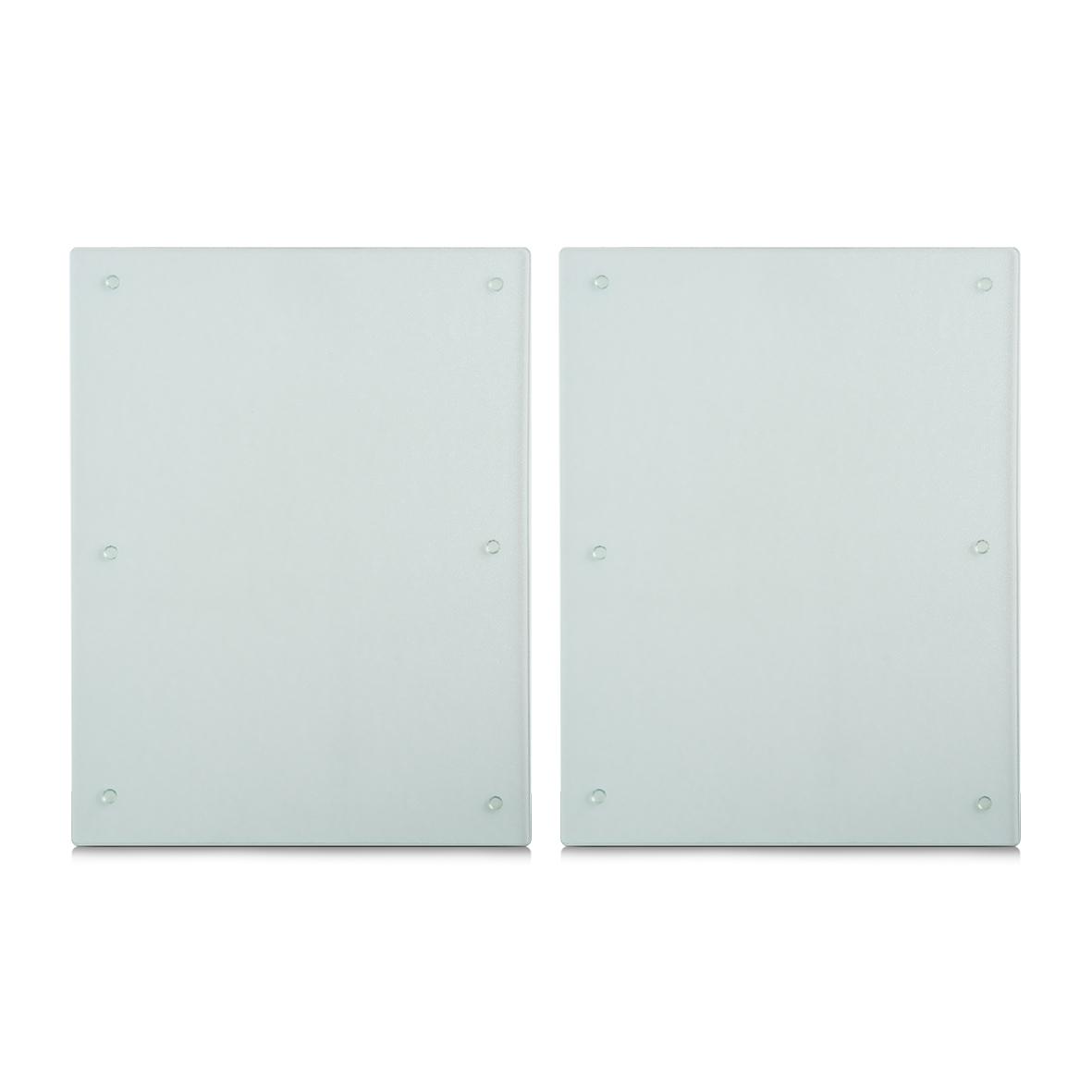 Set 2 placi din sticla, protectie plita, Transparent XL, l40xA52 cm poza