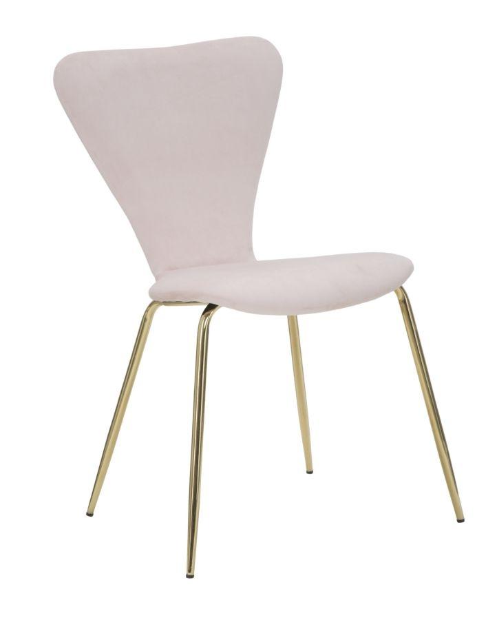 Set 2 scaune tapitate cu stofa, cu picioare metalice Simple Rose / Auriu, l45xA50xH80 cm din categoria Scaune