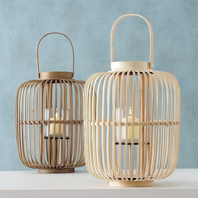 Set 2 suporturi din bambus pentru lumanare Silas Natural, Ø36xH43 cm imagine