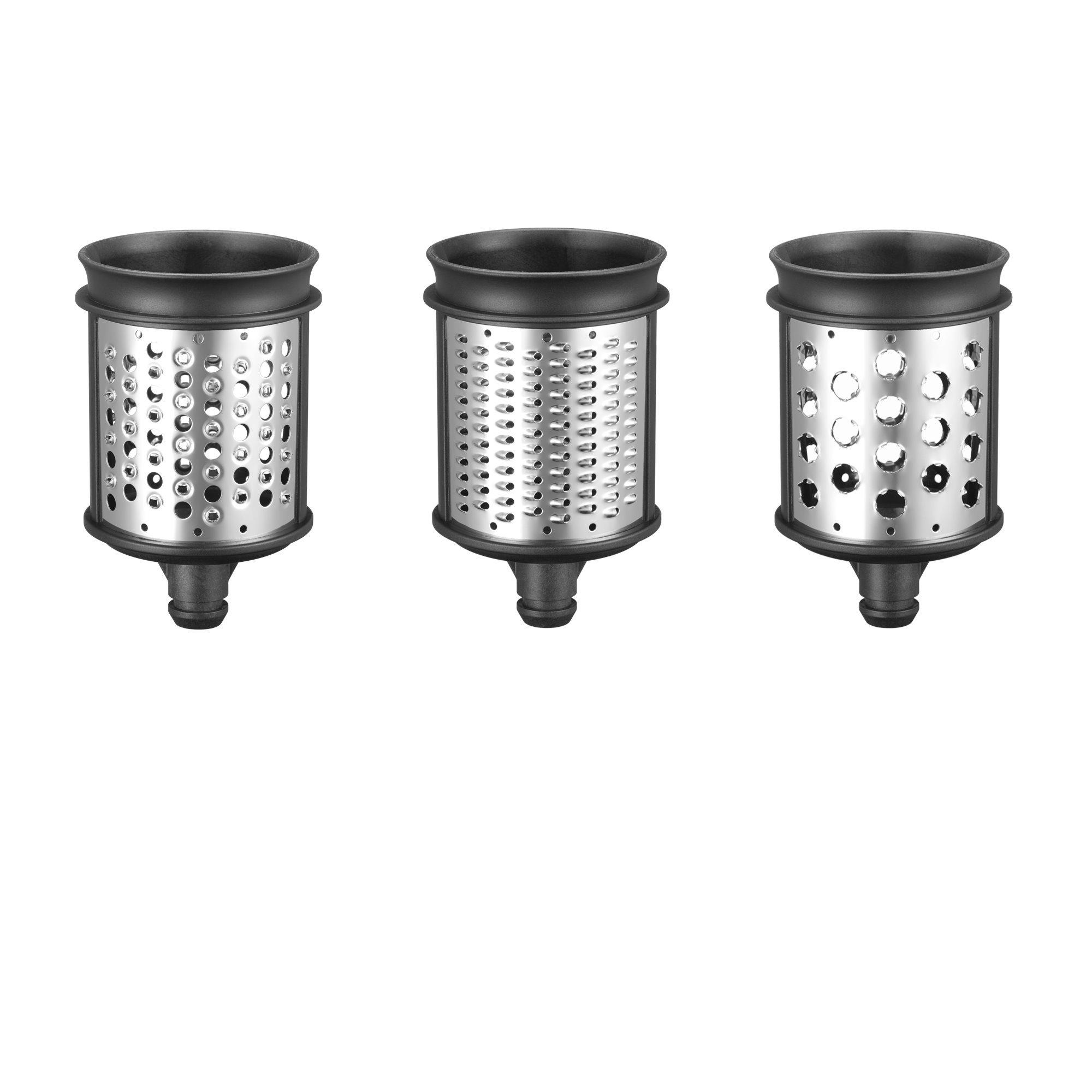 Set 3 cilindri pentru feliat si maruntit legume 5KSMEMVSC, Silver, KitchenAid imagine