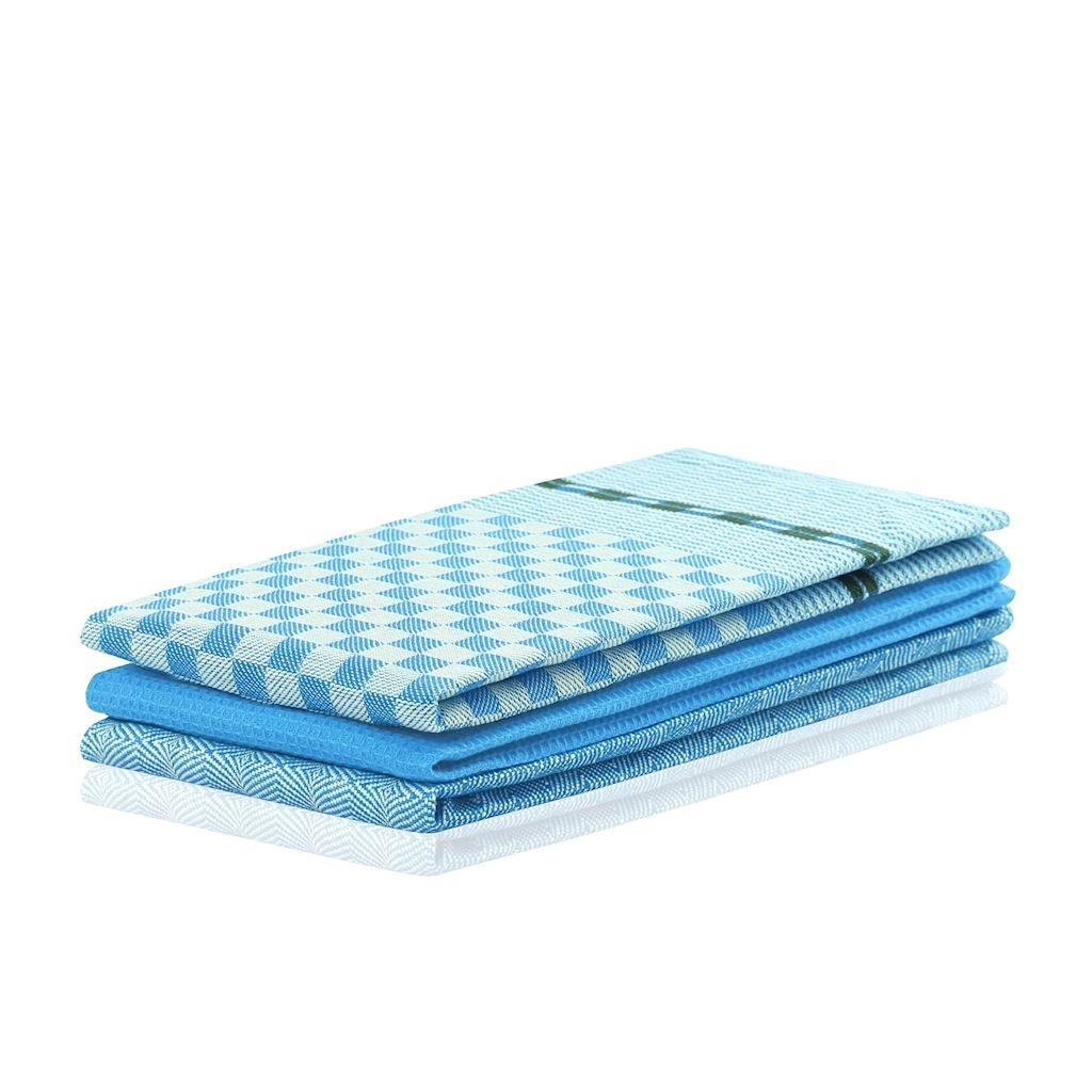 Set 3 prosoape de bucatarie Louie Albastru, 50 x 70 cm