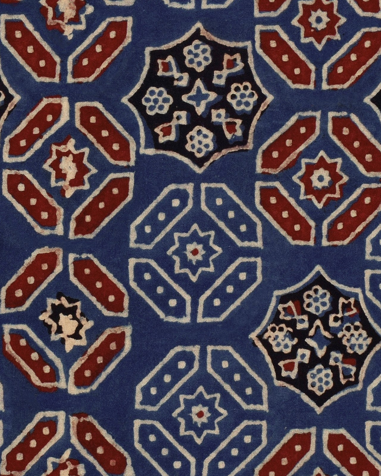 Set 3 role Tapet Imprimat Digital Ajrak Blue