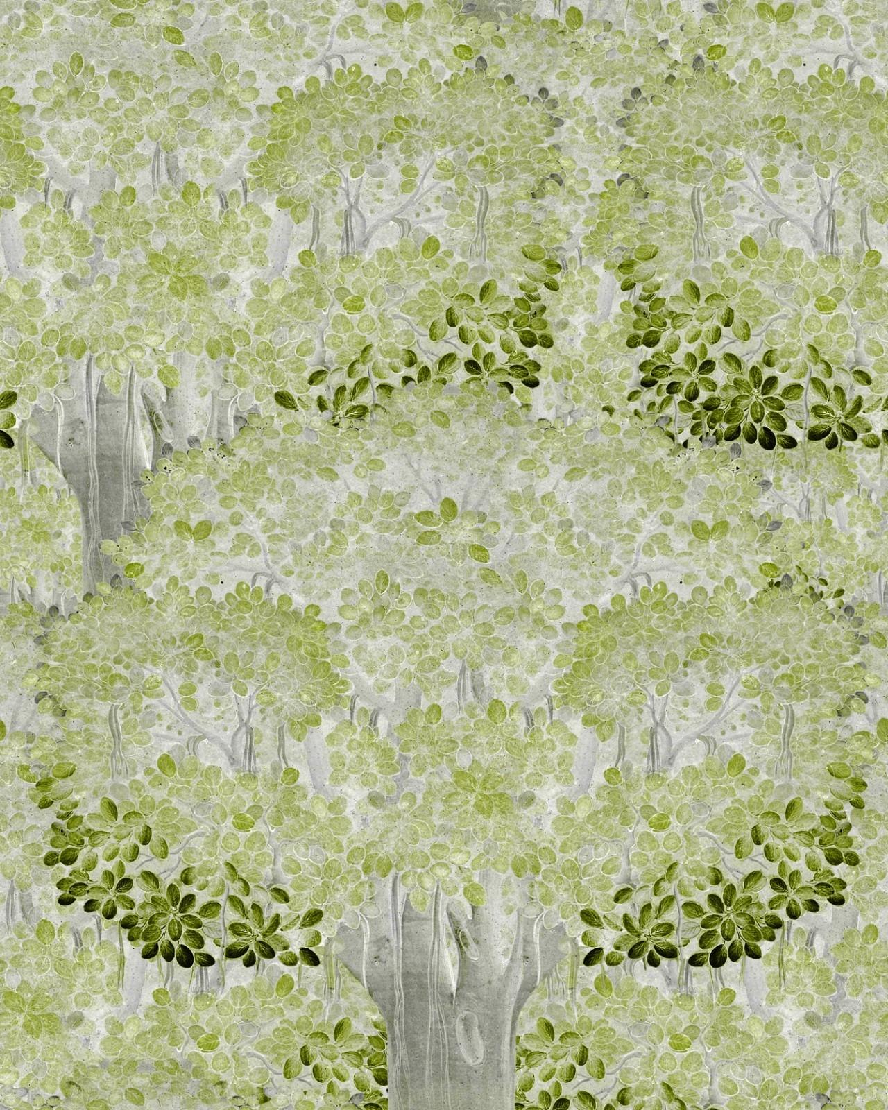 Set 3 role Tapet Imprimat Digital Savage Leaves Green imagine