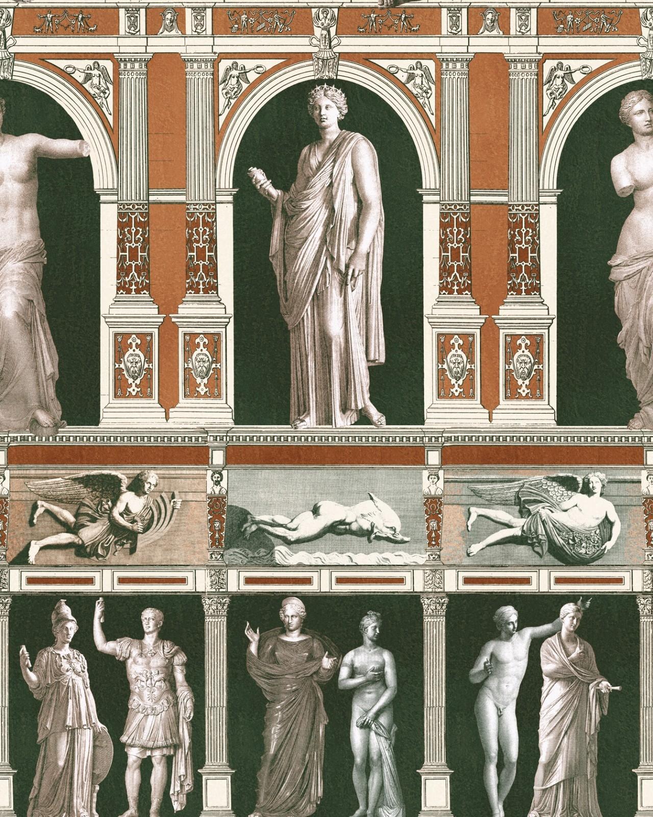 Set 3 role Tapet Imprimat Digital Statues Antique
