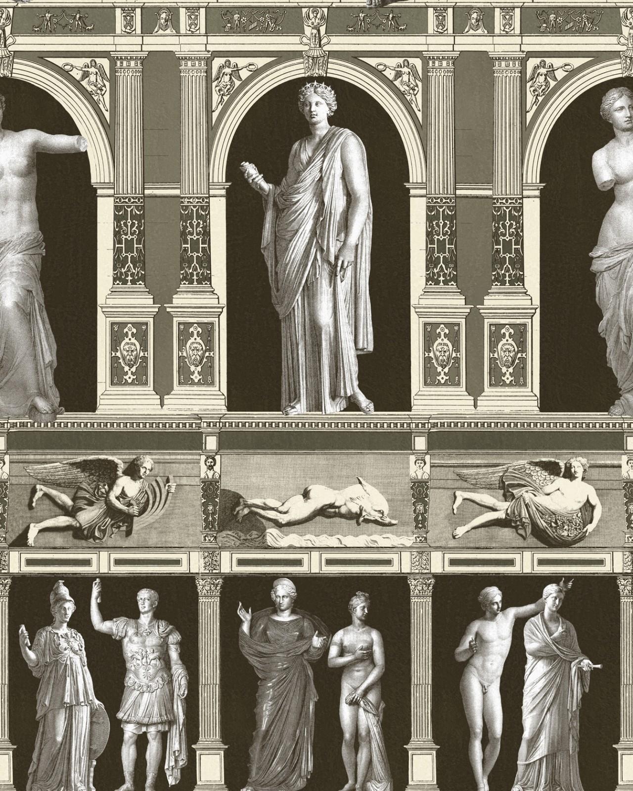 Poza Set Role Tapet Imprimat Digital Statues Antique Taupe