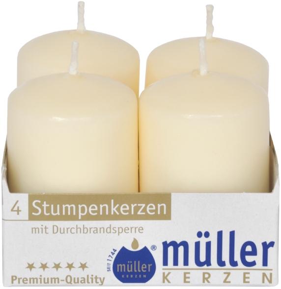 Set 4 Lumanari cilindrice Vanilie Crem, Ø4xH6,2 cm poza