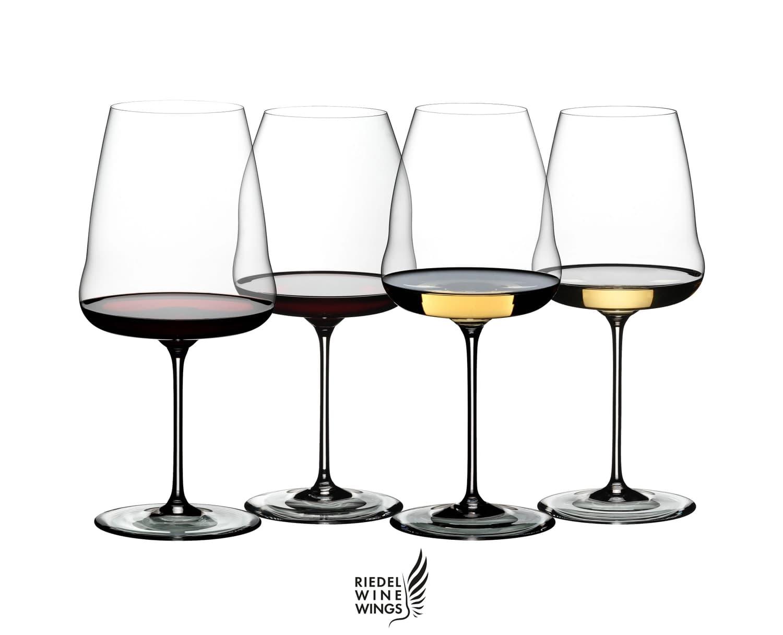 Set 4 pahare pentru degustare vin, din cristal Winewings Tasting Clear, Riedel imagine
