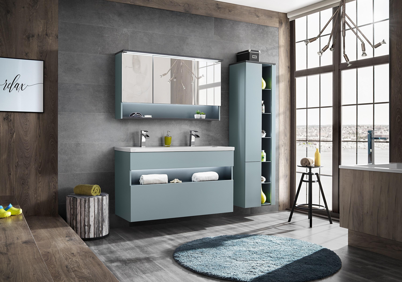 Set Mobilier pentru baie, 4 piese, Bahama Mint XL imagine