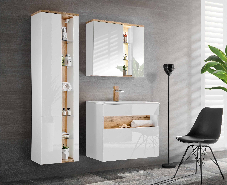 Set Mobilier pentru baie, 4 piese, Bahama White XL