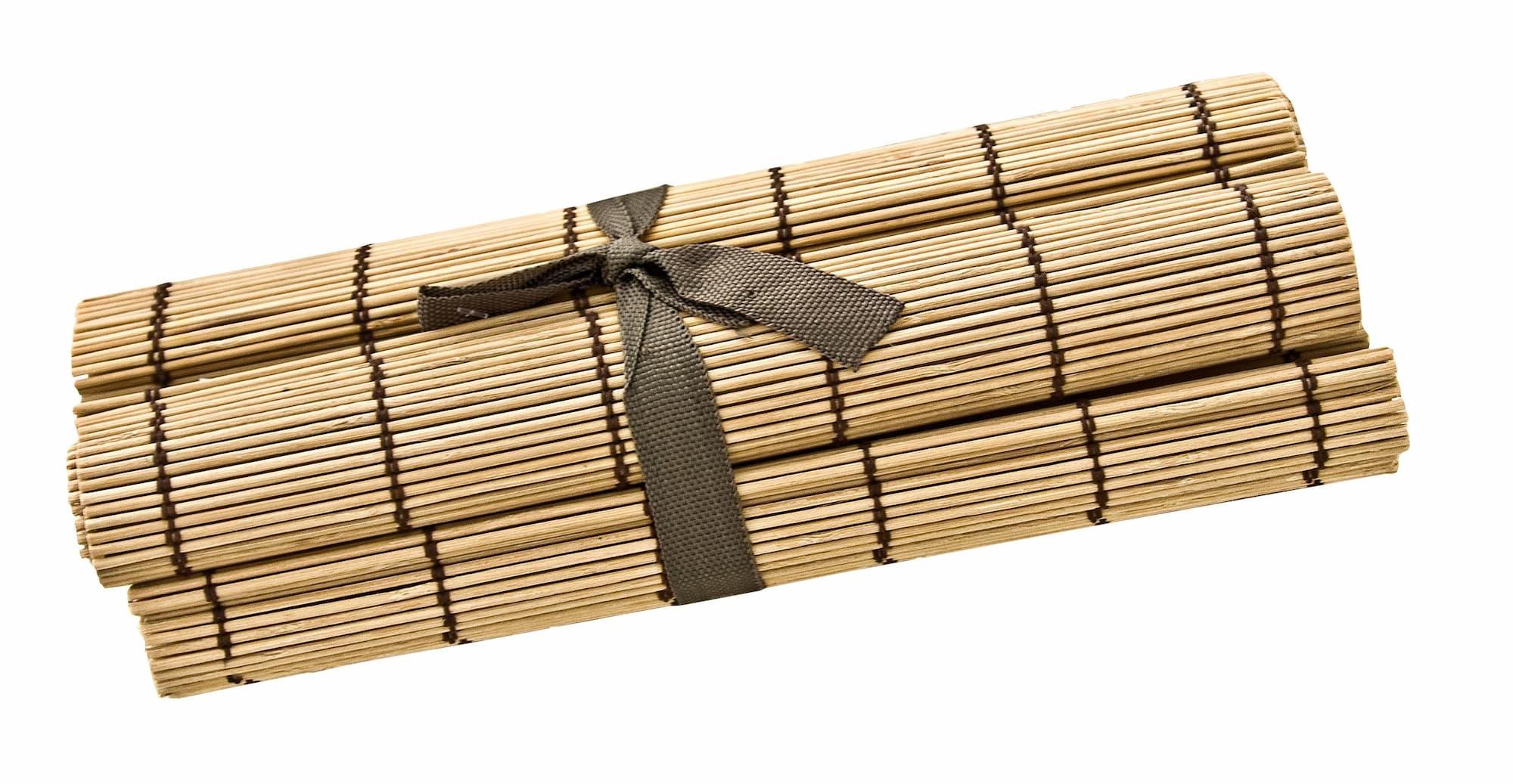 Set 4 suporturi pentru vesela din bambus Noce Natural, L45xl30 cm poza