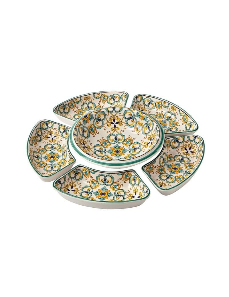 Set 6 piese Tapas, din ceramica, Medicea Multicolor, Ø60 cm somproduct.ro