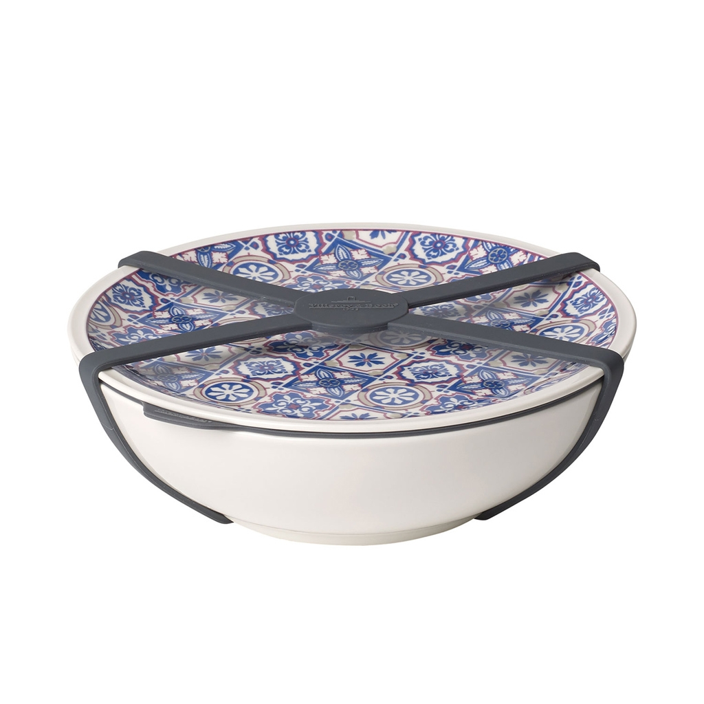 Set bol si farfurie din portelan, To Go L Albastru, 800 ml, Villeroy & Boch imagine
