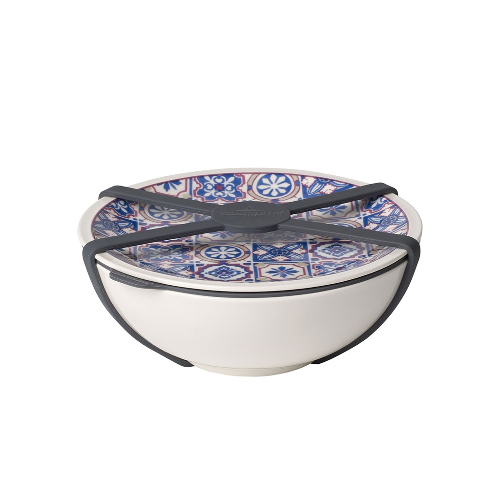 Set bol si farfurie din portelan, To Go M Albastru, 350 ml, Villeroy & Boch imagine