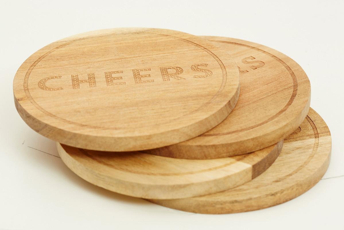 Set coastere Cheers, 9 cm, Jamie Oliver, 4 piese poza