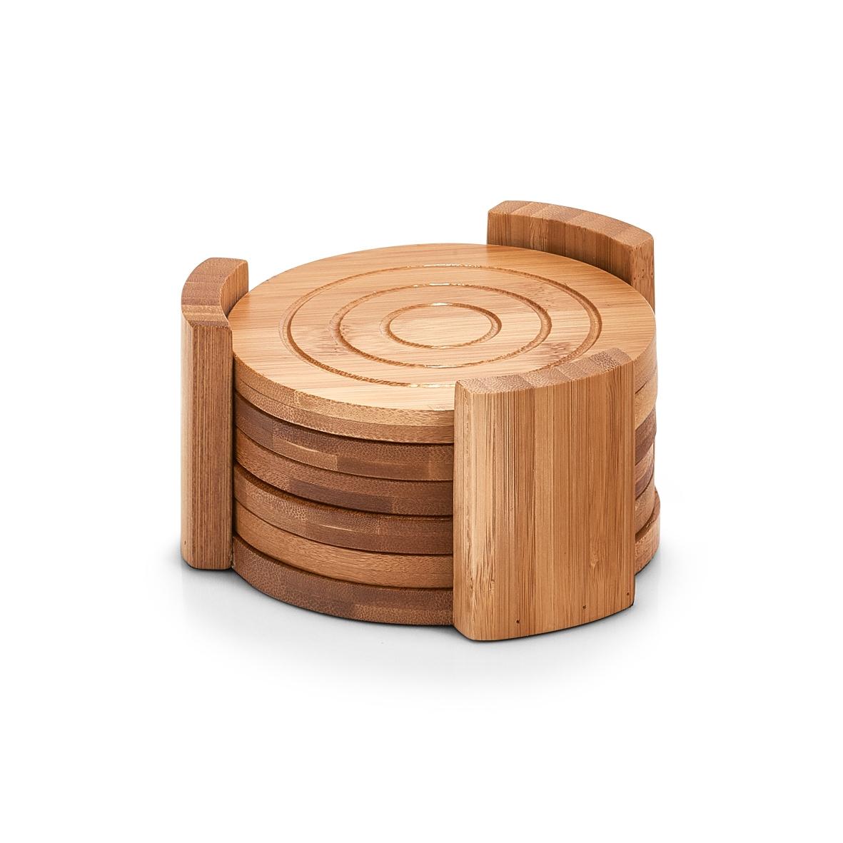 Set coastere cu suport, Natural Bamboo, 7 piese poza
